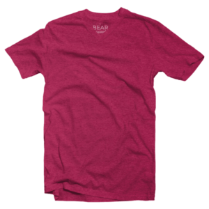 carmine red v-neck tri-blend