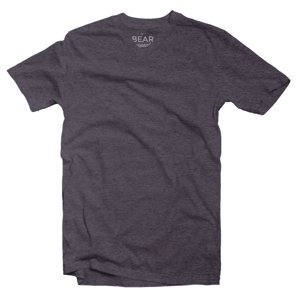 charcoal grey v-neck tri-blend
