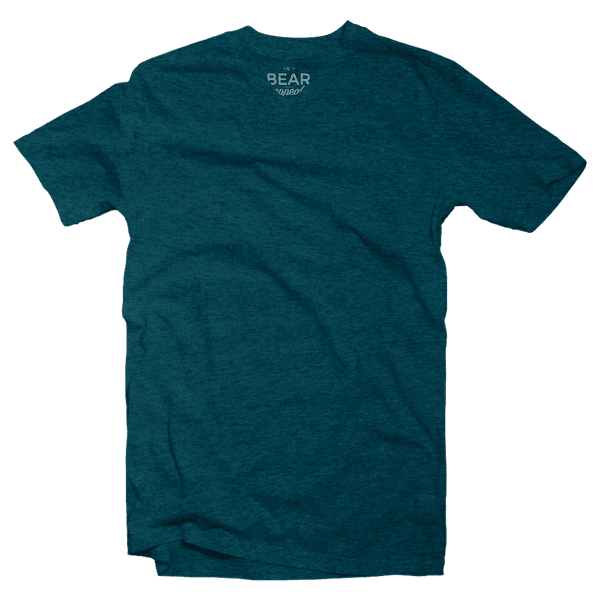 sea green v-neck tri-blend