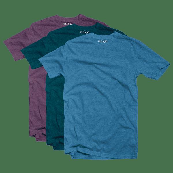 tri-blend crew neck 3 pack