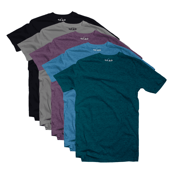 mixed crew neck 5 pack