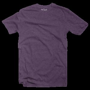 deep purple crew neck tri-blend