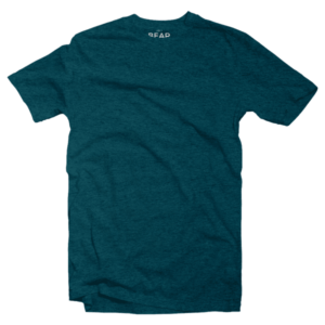 sea green crew neck tri-blend