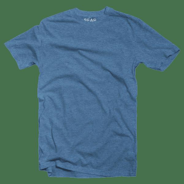 sky blue crew neck tri-blend