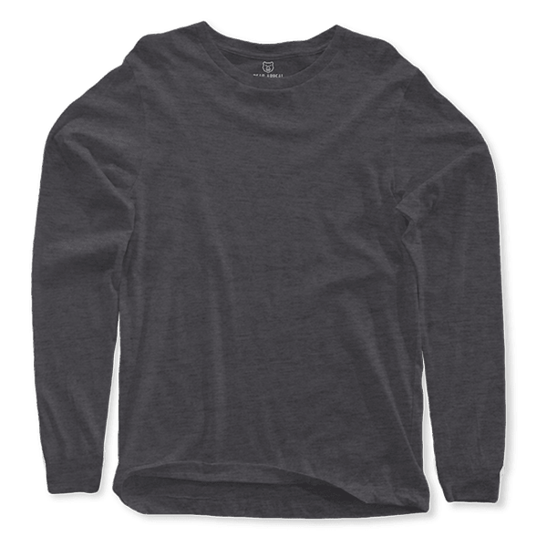charcoal grey long sleeves crew neck