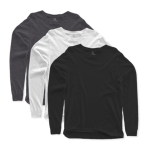 long sleeves crew neck 3 pack