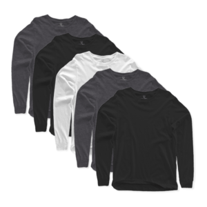 long sleeves crew neck 5 pack