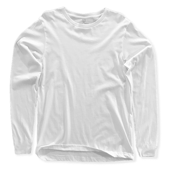white long sleeves crew neck