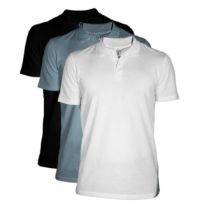 monochrome polo 3 pack