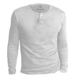white long sleeves henley neck