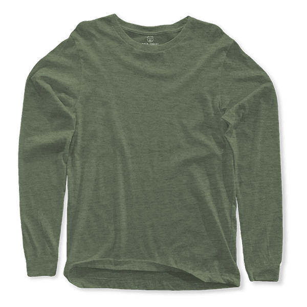 Olive Long Sleeves Crew Neck