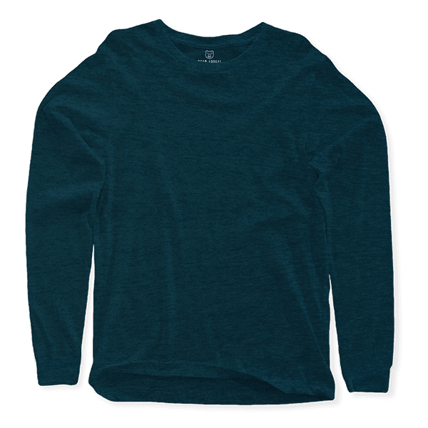 sea green long sleeves crew neck