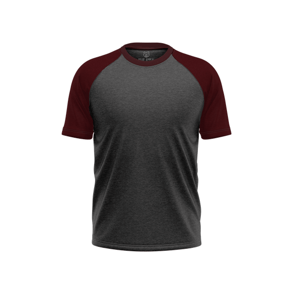 Maroon & Charcoal Grey
