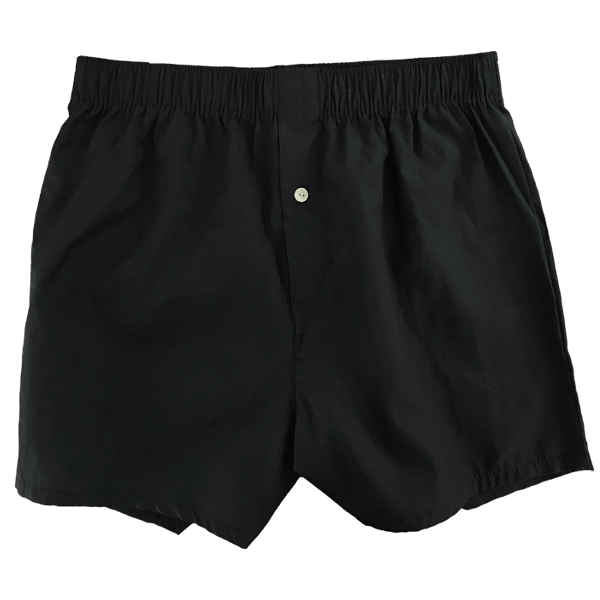 black woven boxer short