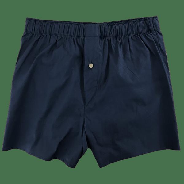 navy blue woven boxer short