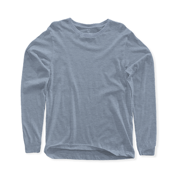 grey long sleeve crew neck