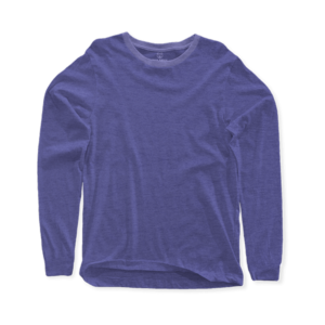 indigo long sleeve crew neck