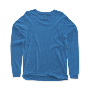 sky blue long sleeve crew neck