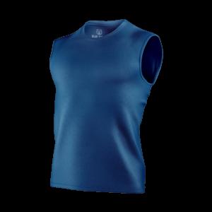 carbon blue sleeveless t-shirt