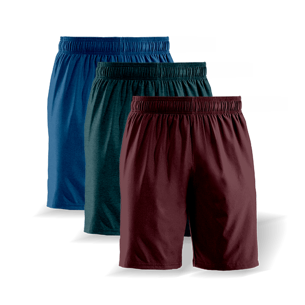 classic casual shorts 3 pack