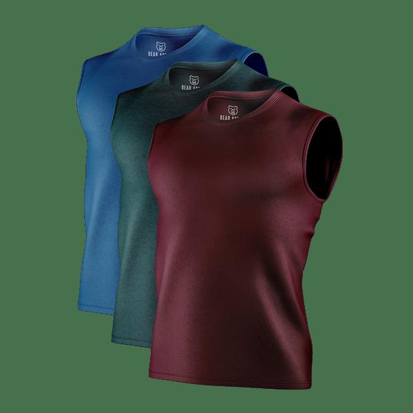 classic sleeveless t-shirts 3 pack