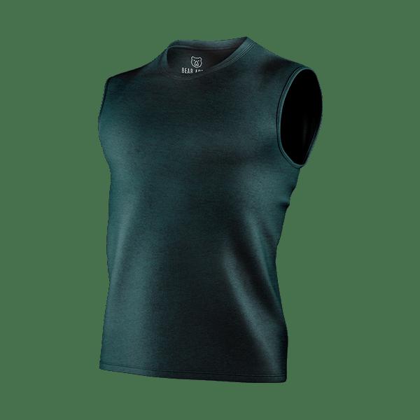 sea green sleeveless t-shirt